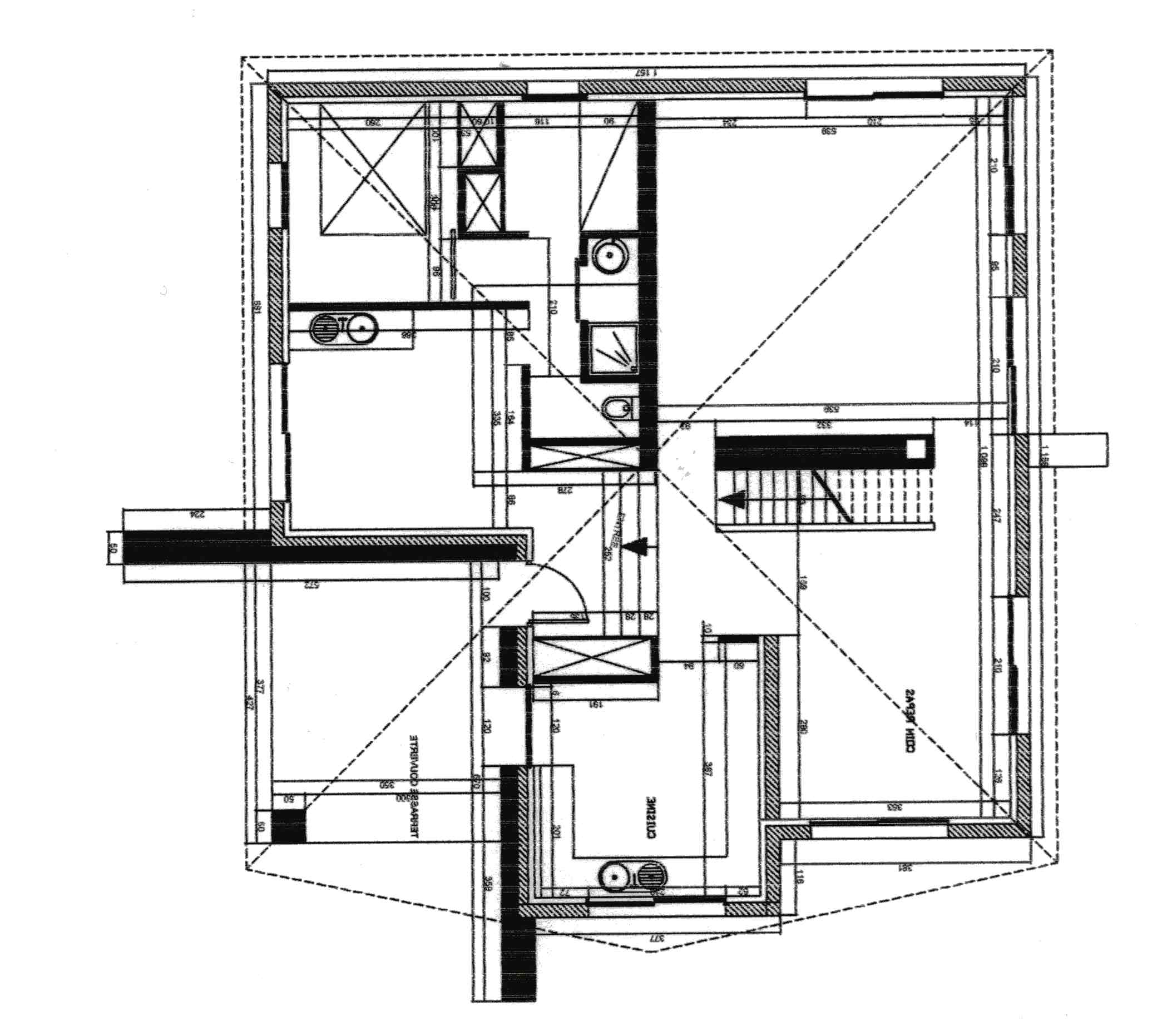 Conception de plan d'une maison ossature bois pour autoconstruction